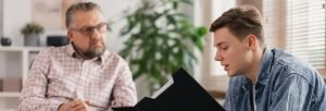 Inpatient Vs Outpatient Rehab Resurgence – An outpatient therapy patient meets with his therapist for treatment.