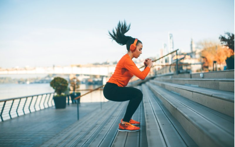 Exercise and Addiction Recovery Resurgence - A woman is taking part in a coping skill of exercise that helps with avoiding urges for drug and alcohol abuse and addiction. Is exercise good for alcohol withdrawal? Yes.