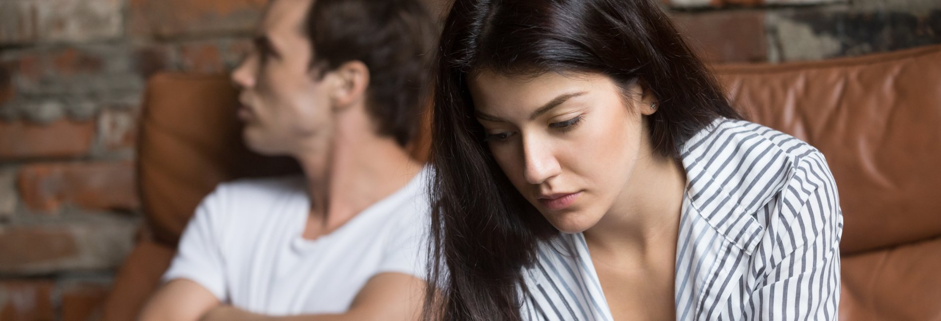 Addiction and Divorce Resurgence – A couple fights in therapy. According to addiction and divorce statistics, relationships are hard to manage when addiction is involved.