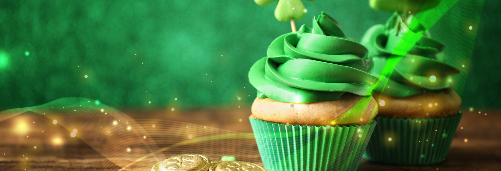 In What Ways Can You Still Have A Fun, Sober St. Patrick's Day? Resurgence - Two cupcakes sit on a table that are decorated for St. Patrick's Day as part of a fun and sober holiday celebration.