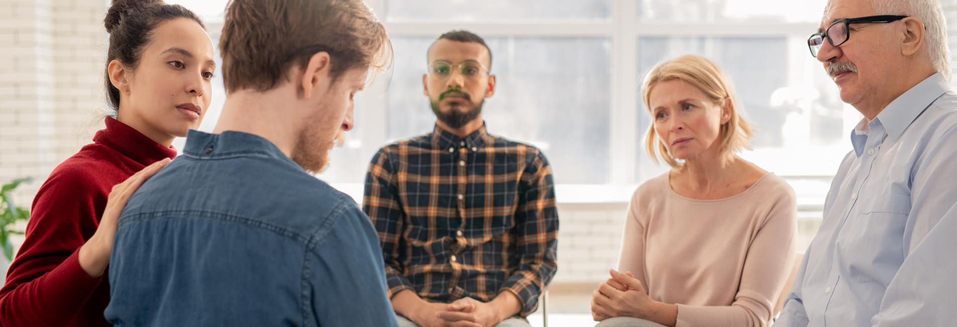 Alcohol Abuse in Costa Mesa CA - Resurgence - A group of individuals in rehab for alcohol abuse in Costa Mesa CA is discussing their own addiction experiences.