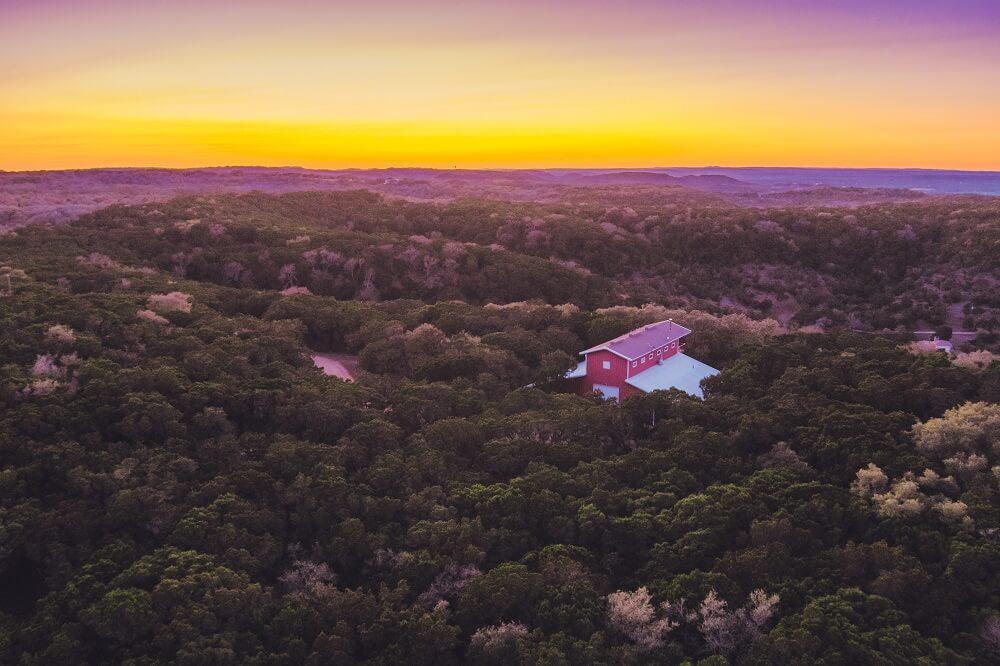 Texas drone shot
